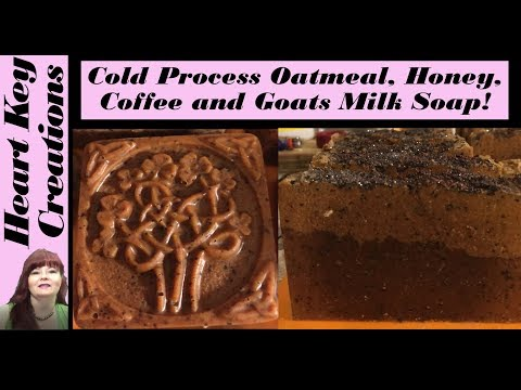 Cold Process Soap Making All Natural Coffee Honey Goats Milk and Oatmeal