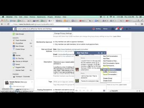 How to change description and link in FB group