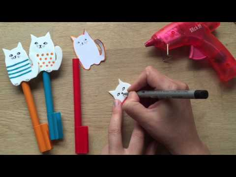 Back to School Pencil Toppers - Craft Foam Cats - DIY Pencil Case Accessories!