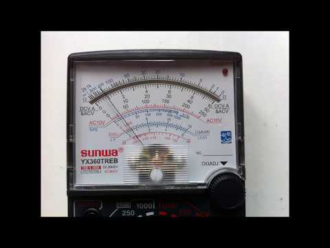 How To Use Analog MultiMeter (Amp)