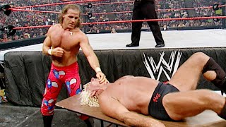 Shawn Michaels drives Ric Flair through a table: WWE Bad Blood 2003