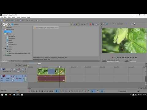 Sony Vegas Pro 13: How to Unlink Audio from Video