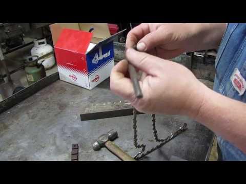 Shorten a Chainsaw chain or make a new chain