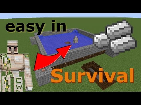 Iron Golem Farm (Works In Minecraft 1.13)