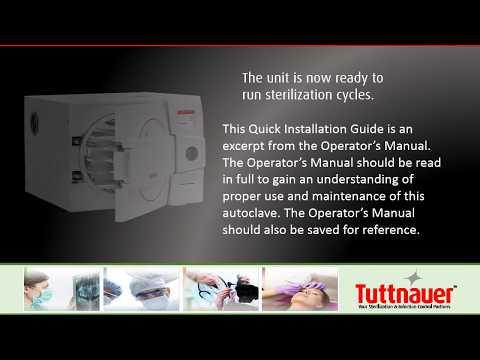 Installation of a Tuttnauer EZPlus Autoclave