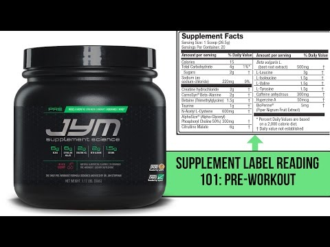 Supplement Label Reading 101: Pre-Workout
