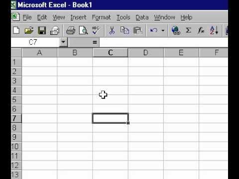 Microsoft Office Excel 2000 Activate menu bar