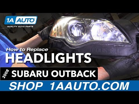 How to Replace Install Headlights 08-09 Subaru Outback