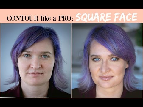 RESHAPE SQUARE FACE SHAPE: new CONTOUR and HIGHLIGHT tips SIMPLIFIED/ for BEGINNERS