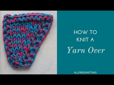 How to Knit a YO Increase