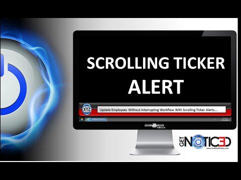 How to Send a Desktop Scrolling Ticker Alert  www.End2EndPower.com