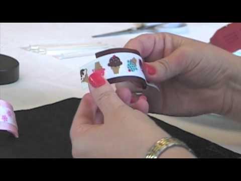 Make Ribbon Covered Ponytail Holder Cuffs