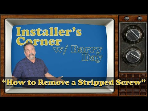 Installer's Corner: How to Remove a Stripped Screw in Seconds