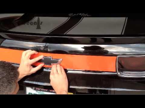 Trunk blackout install - Bowtie Cutout Technique