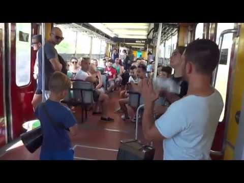 Naples Sorrento train Italian folk singing
