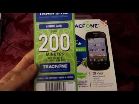 ZTE Valet Android Tracfone Unboxing