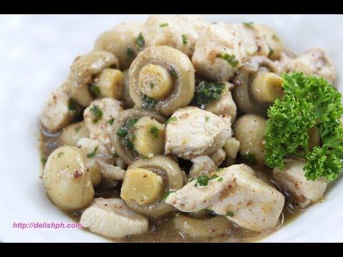 Mushrooms Chicken in Liver Spread