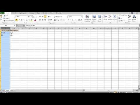 Read Data From Excel Sheet