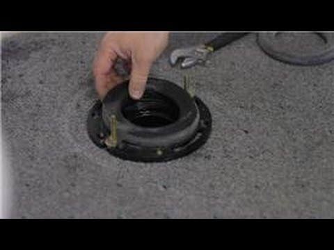 Toilet Repair : How to Repair and Mount a Plastic Toilet Flange