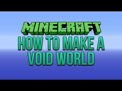 Minecraft: How To Make A Void World