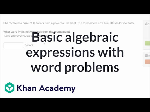 How to write basic algebraic expressions from word problems | 6th grade | Khan Academy