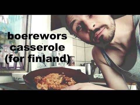 boerewors casserole (for finland)
