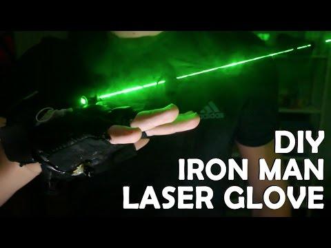DIY Iron Man LASER Glove! - Burning Laser, Wrist Flamethrower IRL!!!