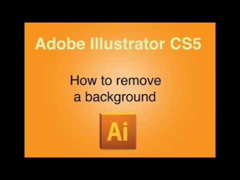 Adobe Illustrator CS5: How to remove a background