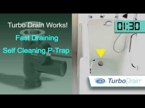 TURBO DRAIN - Drains bathtubs 3X faster without motors or pumps