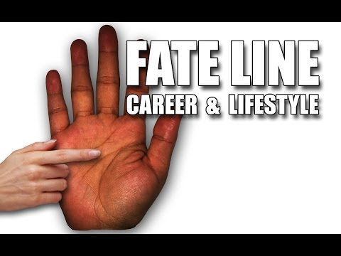 FATE LINE: Career & Lifestyle Female Palm Reading Palmistry #114