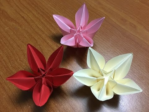 How to make Origami flower Carambola Carmen - DIY Tutorial