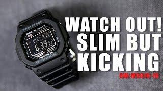 SLIM BUT KICKING ! G-SHOCK GW-M5610-1B - UNBOXING , REVIEW \u0026 ADJUSTMENT TUTORIAL