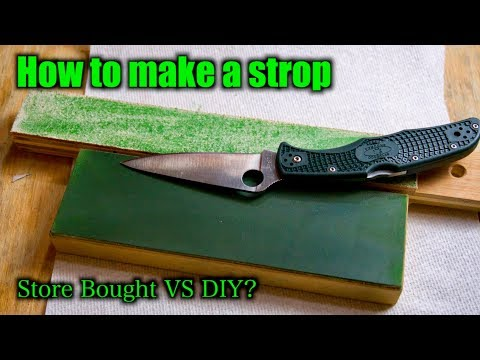 How To Make A Strop For Knife Sharpening SUPER EASY