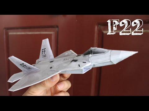 How to Make an F-22 Raptor Paper plane that Flies Far
