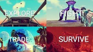 No Man's Sky | 'Explore, Fight, Trade & Survive' Pillar Roundup Trailer | PS4
