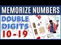 🔥 How to Memorize Numbers • 10-19 Double Digits | Major System Memory Techniques