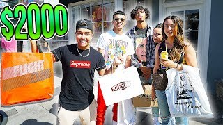 STRANGERS PICK MY $2000 HYPEBEAST OUTFIT WITH AZAR (SUPREME, BAPE, YEEZY)