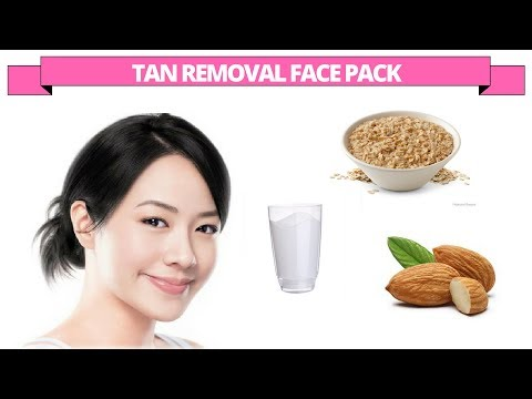 Tan removal face pack with oatmeal, almonds & milk