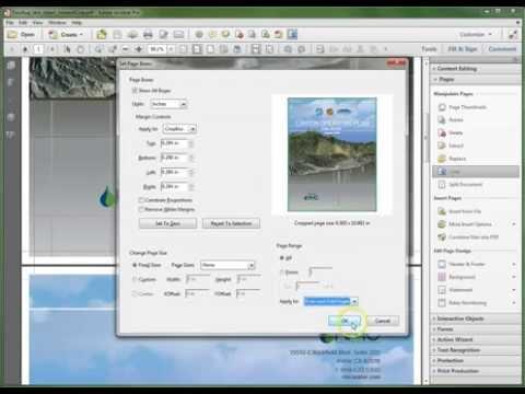 Adobe Acrobat XI: Crop Pages Using the Crop Tool