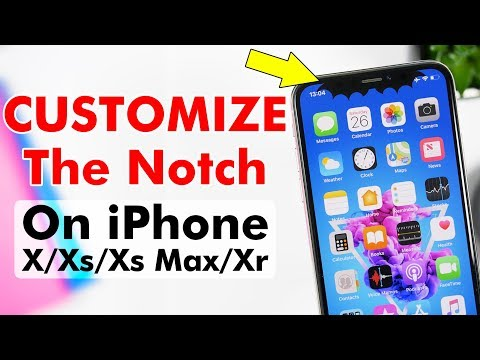 CUSTOMIZE The Notch On iPhone X, Xs, Xs MAX & Xr !