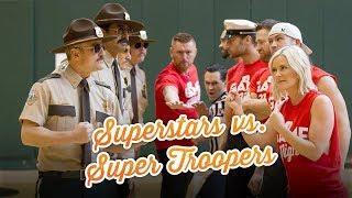 WWE Superstars vs. Super Troopers in dodgeball: WWE Game Night