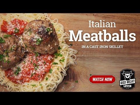 Meatballs In Cast Iron Skillet - SIMPLE MEATBALLS RECIPE!