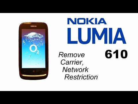 Nokia Lumia 610 Unlock Carrier Network Provider Restriction With Unlo