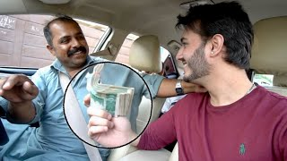 GIVING 100,000 rupees TO MY UBER DRIVER (EMOTIONAL)