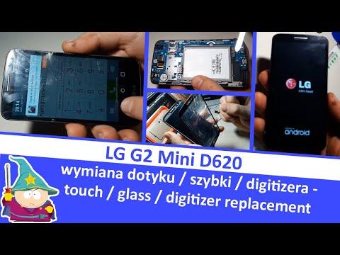 LG G2 Mini D620 - wymiana dotyku / digitizera /  szybki - touch / digitizer / glass replacement