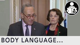 Body Language: FBI Report Dianne Feinstein & Chuck Schumer Press Conference