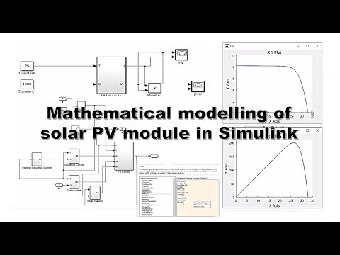 mathematical modelling of solar PV array in Simulink (MATLAB 2015), cell or module