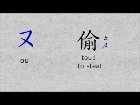 Zhuyin (Bopomofo) Characters - Traditional Chinese Characters