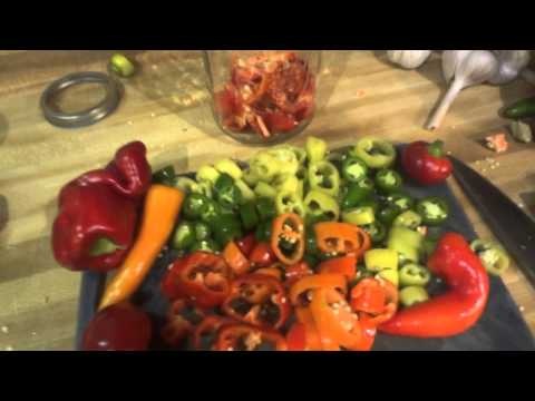 Simple pickled peppers for the fridge