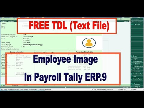 How to attach  Employee Image in Payroll